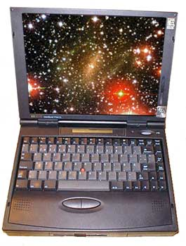 used notebook, HP Omnibook 4100 Notebook / Laptop Computer, windows 95,serial port, floppy drive,