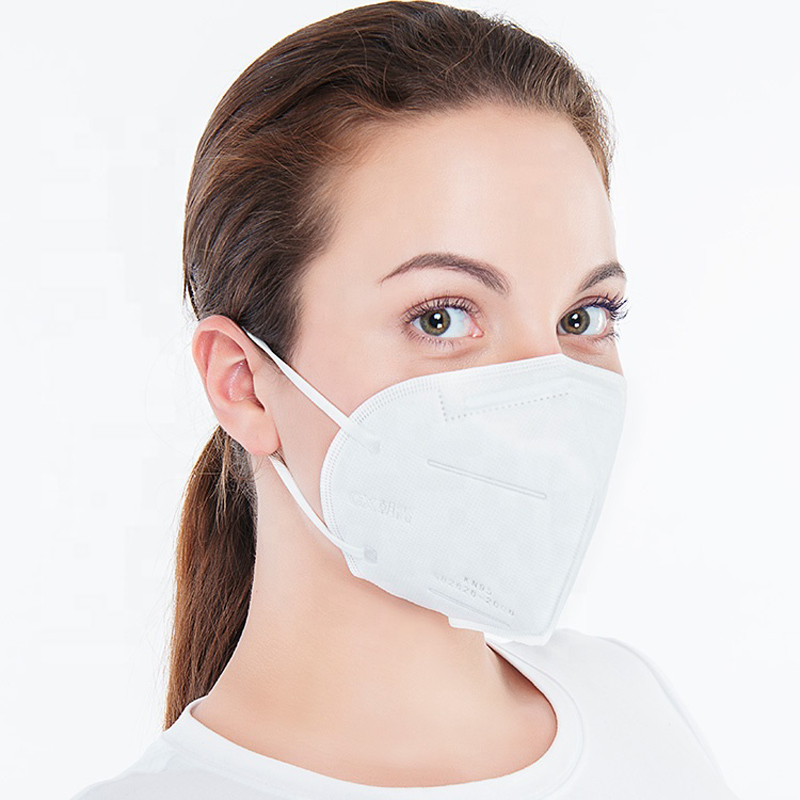KN95 white disposable face mask